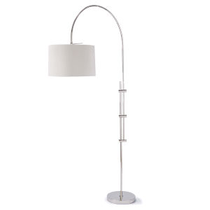 Arc Polished Nickel One-Light Floor Lamp