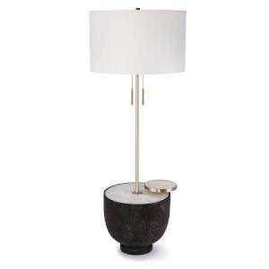 Theo Ebony Two-Light Floor Lamp
