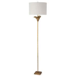 Monet Antique Gold Leaf One-Light Floor Lamp