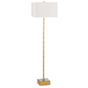 Sarina Gold Leaf One-Light Floor Lamp