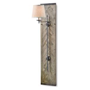 Herringbone Pewter One-Light Wall Sconce