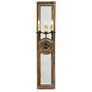 New South Distressed Painted Eight-Inch Three-Light Wall Sconce