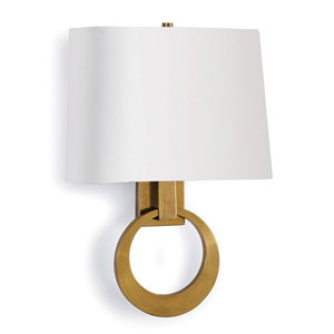 Classics Brass 12-Inch Two-Light Wall Sconce