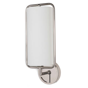 Modern Glamour Polished Nickel Eight-Inch One-Light Wall Sconce