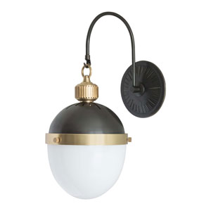Classics Blackened Brass One-Light Wall Sconce
