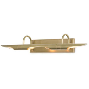 Classics Natural Brass and Ivory Four-Light Wall Sconce