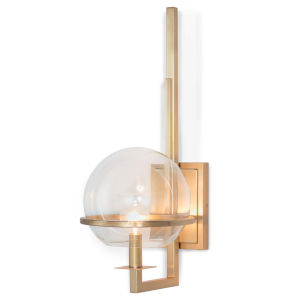 Saturn Natural Brass One-Light Wall Sconce