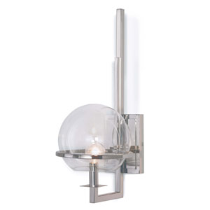 Modern Glamour Saturn Polished Nickel Seven-Inch One-Light Wall Sconce