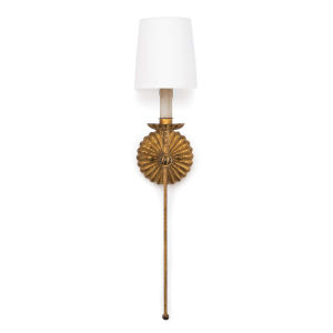 Clove Antique Gold Leaf One-Light Wall Sconce