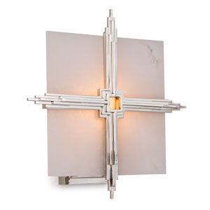 Modern Glamour Polished Nickel 13-Inch One-Light Wall Sconce