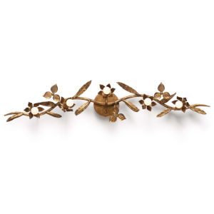 Trillium Natural Brass Five-Light Wall Sconce
