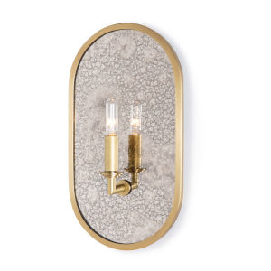 Boston Natural Brass One-Light Wall Sconce
