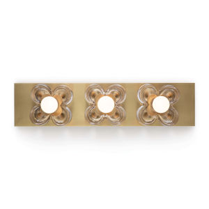 Bella Natural Brass Three-Light Wall Sconce