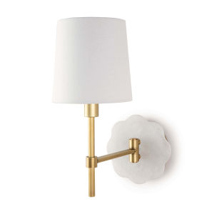 Mia Natural Brass One-Light Wall Sconce