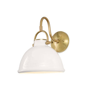 Eloise White One-Light Wall Sconce