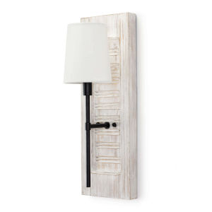 Beal White One-Light Wall Sconce