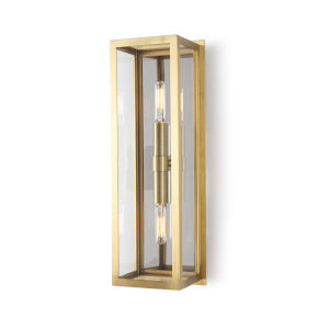 Ritz Natural Brass Two-Light Wall Sconce