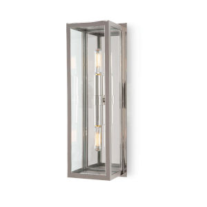 Ritz Polished Nickel Two-Light Wall Sconce