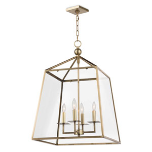 Classics Natural Brass Four-Light Pendant