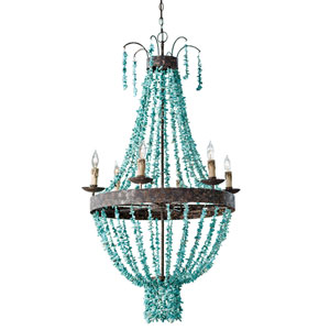 East End Turquoise Six-Light Chandelier