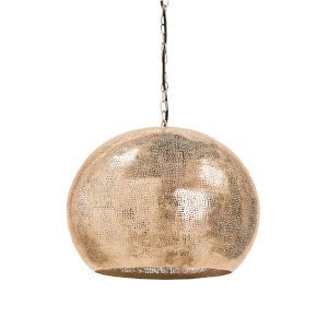 Pierced Natural Brass Five-Light Pendant