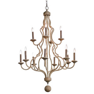 Jute Natural 12-Light Chandelier