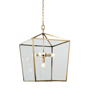 Classics Natural Brass Five-Light Pendant