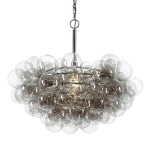 Modern Glamour Brushed Nickel One-Light Pendant