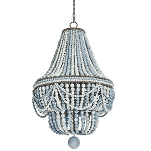 LA Modern Blue Six-Light Chandelier