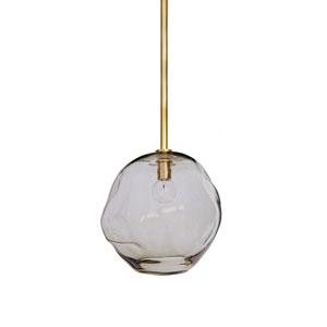 LA Modern Brass Nine-Inch One-Light Mini-Pendant