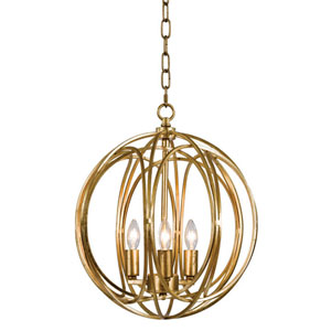 Classics Gold Leaf 13-Inch Three-Light Chandelier