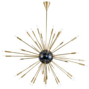 Nebula Brass 34-Light Chandelier