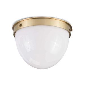Natural Brass One-Light Flush Mount