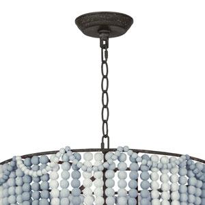 LA Modern Blue Three-Light Pendant