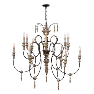 New South Gesso 12-Light Chandelier