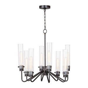 Classics Oil Rubbed Bronze 24-Inch Eight-Light Chandelier