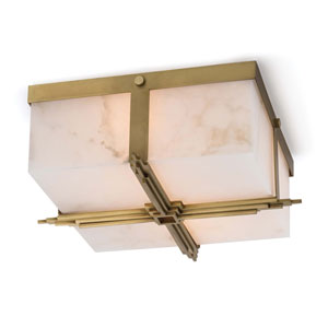 Classics Natural Brass Two-Light Flush Mount
