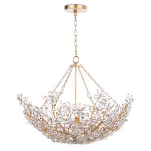 Cheshire Gold Leaf Six-Light Chandelier