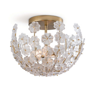 Charlotte Natural Brass Two-Light Flush Mount