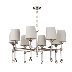 Classics Polished Nickel Eight-Light Chandelier