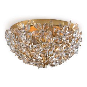 Cheshire Gold Leaf Two-Light Flush Mount