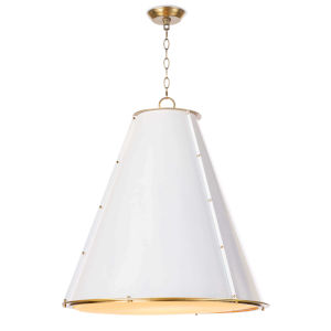 French Maid White One-Light 26-Inch Chandelier