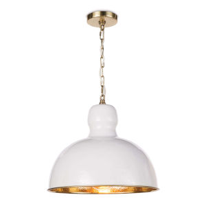 Hope White One-Light 16.5-Inch Pendant