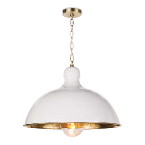 Hope White One-Light 24-Inch Pendant