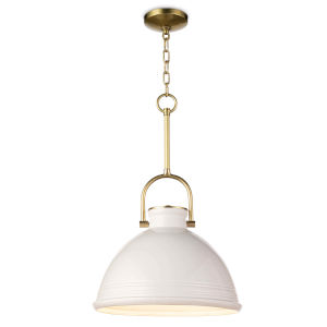 Eloise White One-Light Pendant