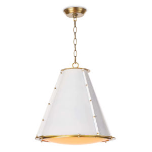 French Maid White One-Light Chandelier