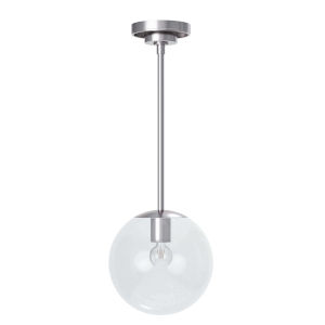Cafe Polished Nickel One-Light Mini Pendant