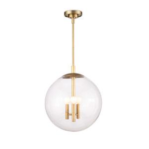 Cafe Natural Brass Three-Light 12-Inch Pendant