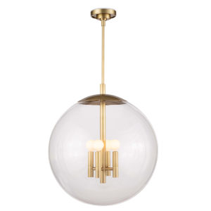 Cafe Natural Brass Four-Light Pendant