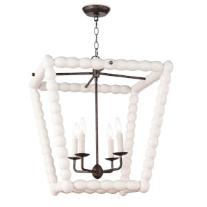 Perennial White Four-Light Pendant